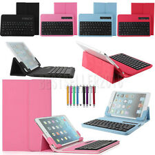 """Universal Bluetooth Keyboard Leather Case Cover For 7"""" 7.9"""" inch Android Tablet"""
