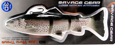 """SAVAGE GEAR 3D LINE THRU TROUT 8"""" SWIMBAIT FLOATING SLOW SINK SINKING R. TROUT"""