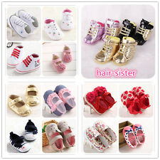 12 Styles Girls Newborn Toddlers Infant Baby shoes soft Anti-slip Size 0-18month