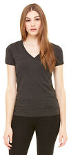 Bella + Canvas Women's 100% Cotton Short Sleeve Deep V Neck Best T-Shirt. 6035U
