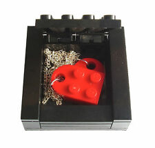 Necklace Gift Box made from LEGO Bricks HEART NECKLACE NOT INCLUDED valentines
