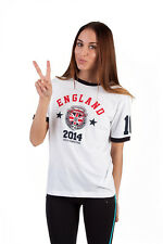 New  Womens Ladies World Cup 2014 Printed Top National Football Soccer T shirt