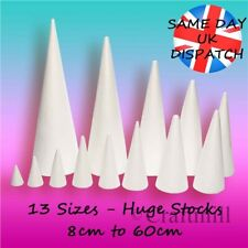 Polystyrene Cones - Craft Sugarcraft Sweet Trees Xmas CHOOSE SIZE & QUANTITY