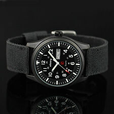 INFANTRY Mens Date Day Night Vision Wrist Watch Sport Military Nylon Band 044M