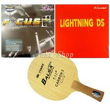 Custom-Made Bat Galaxy T-11+  Table Tennis Blade with 2x RITC729 FOCUS3 snipe