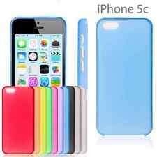 Apple iPhone 5c Thin matte frosted transparent shell case FREE Screen protector