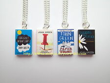 JOHN GREEN INSPIRED MINIATURE BOOK NECKLACE - CHOOSE FROM 3 TITLES