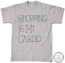 Shopping Is My Cardio T Shirt Top Womens Girls Mens Hipster Vogue Tumblr Quote