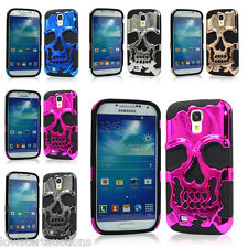 SKULL SILICON HEAVY DUTY IPHONE 5C,SAMSUNG GALAXY S4 3D PHONE CASES MANY COLOURS