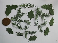 40 FERN & HOLLY, MISTLETOE, HOLLY,  DIE CUTS IN ASS WEDDING CHRISTMAS