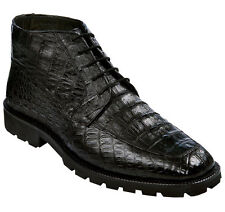 LOS ALTOS GENUINE ALL CROCODILE CAIMAN BLACK MEN ANKLE BOOT (EE) WIDTH ZA2068205