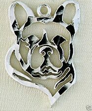 French Bulldog Head Small Necklace Jewelry ~ .925 Sterling Silver