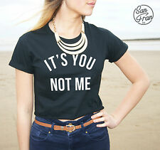 * It's You Not Me Crop Top Tank Fashion Tumblr Retro Blogger Swag OOTD Its Dope*