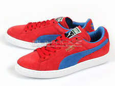 Puma Suede Classic+ Casual Sneakers 2014 High Risk Red-French Blue 356568 02