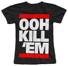 OOH KILL 'EM MEEK MILL HIP HOP MUSIC DOPE GIRLS WOMENS CREW NECK COTTON T-SHIRT