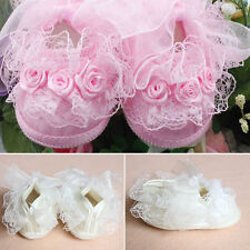 Hot New Girl Cute on-Slip Newborn Shoes Baby Toddler Shoes With Lace White Pink