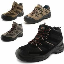 New Mens Trekking Walking Trail Hiking Rambling Boots Lace Up Shoes UK Size 7-12