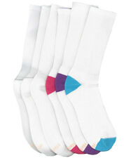 Hanes Women's All Day Dry Cushioned Crew Athletic Socks, 6-Pack. 417/6