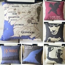 The Lord of the Rings The Hobbit Poster Retro Linen Pillow Case Cushion Cover
