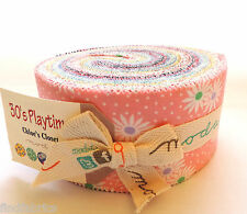 "Jelly Rolls 30's Playtime 2014 by Moda Fabrics • Strips of  2½"" x  45"" Fabrics"
