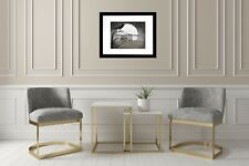 Surreal Crow Tree House Moon Black White Brown Home Decor Matted Picture A604