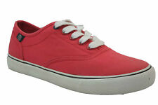 PROMOTION Baskets Femme Pepe Jeans 30603 Rouge Red Toile Pas Cher