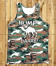 Men's HUMP DAY Camo Tank Top funny geico camel commercial college humor