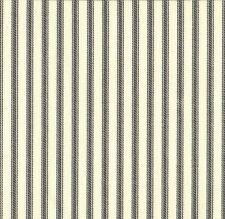 """2 Tab Top 84"""" Curtain Panels French Country Ticking Stripe Brindle Gray"""