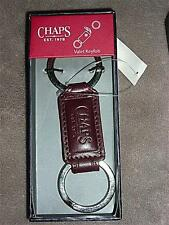Ralph Lauren Chaps Embossed Leather Key Chain / Keyfob~$22~Different Styles~NWT