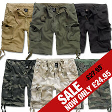MENS CASUAL MILITARY STYLE ARMY CAMO COMBAT CARGO SHORTS BRANDIT URBAN LEGEND
