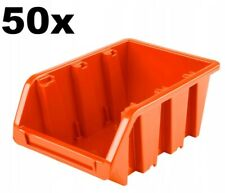 50 x PLASTIC STORAGE BINS BOXES FOR GARAGE 70 x 155 x 100 CONTAINERS BOX NP6