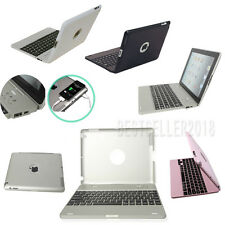Bluetooth Keyboard NoteBook With Power Bank Battery Case Cover For iPad 2 3 4