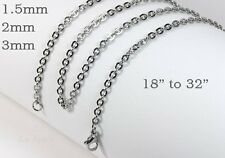 """316L Mens Womens Stainless Steel Necklaces Chains New Cross 18"""" to 32""""  in USA"""