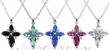 Hot 1pc Fashion Silver Plated Crystal Rhinestone Cross Pendant Chain Necklace
