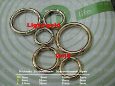 Snap Clip Trigger Spring Gate O Ring Keyring Buckle Bag Accessories Rings New