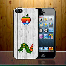 Apple Colourful Quirky Worm Caterpillar Bite Mac Funny Hard Phone Case Cover