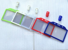 Horizontal Color Name Card Frame & Clip Badge Pass Card Holder Case Fashion New
