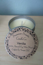 Candle Tin 4 oz All Soy Essential & Natural Oils - Choose your Scent