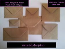 Brown Fleck Kraft Envelopes for Greeting Cards - UK- RECYCLED 110gsm