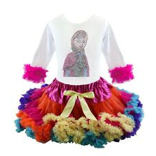Frozen Anna Rhinestone Tutu Pettiskirt Outfit 2 Piece Pageant Party NWT, 1-6 Yr