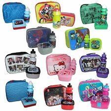Character Official Insulated Lunch Bag Set with Snack Box & Drink Bottle