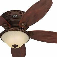 "Hunter 52"" Low Profile / Flush Mount Ceiling Fan - Optional Remote Control"