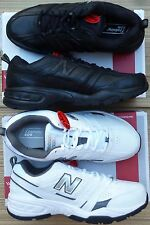 """NEW BALANCE MENS """"MX409"""" BK or WHT D or4E WORK/PLAY ATHLETIC SHOES LIST $60"""