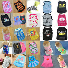 Various Pet Summer Clothes Puppy Small Dog Cat  Vest T Shirt Coat  Dress Apparel
