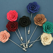 HANDMADE Rose Boutonniere Wedding Men Lapel Pin Dance Party /DR