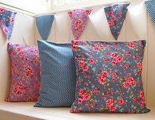 Gorgeous Vintage Style Pure Cotton Cushion Covers.  Bunting Shabby Chic Floral