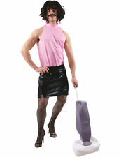 Rock Star Housewife Mens Retro 80s Fancy Dress Costume Adult