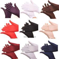 Stretch Satin Gloves for Women Evening Party Wedding Formal Prom Gloves 9 Colors