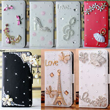 New bling flip leather card holder case stand wallet cover skin For sony xperia