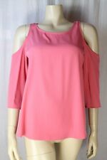 Topshop Ladies Pink Cut Out Top Sizes 6 8 10 12 14 16